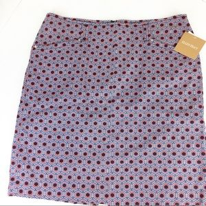 NWT SZ 14 Ellen Tracy Pattern Skirt
